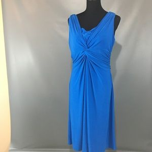 Chaps Cobalt Blue Dress XL With rouching on bust